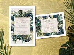 vistaprint wedding invitations palm leaf wedding invitation vistaprint letterpress and