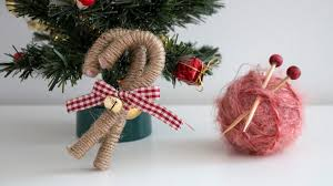 diy christmas ornaments yarn ball u0026 vintage candy canes youtube
