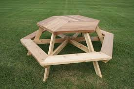 Picnic Table Plans Free Hexagon by Wonderful Hexagon Picnic Table 31 With Beautiful Picnic Tables