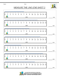 ruler measurements worksheets worksheets
