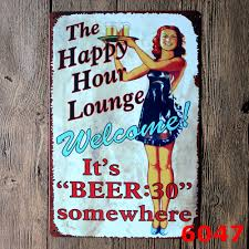 deco plaque metal online buy wholesale happy hour from china happy hour wholesalers