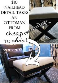 Cheap Ottomans Diy With Style How To Add Nailhead Trim To Furniture Cheap
