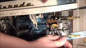 1957 evinrude carburetor removal and reinstallation youtube