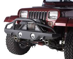 jeep stinger bumper rampage products jeep black and stailless steel bumpers