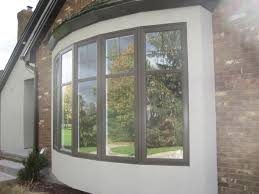 bow windows homecastle and doors london ontario panel bow windows with simulated divided lites and internal grills