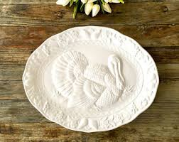 ceramic turkey platter large turkey platter etsy