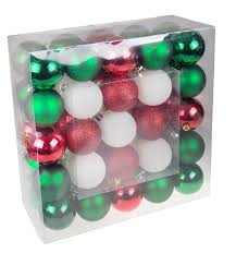 green and white shatterproof ornaments