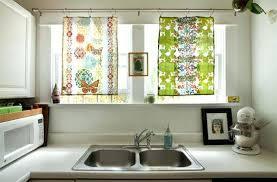 Kitchen Window Decorating Ideas Kitchen Window Treatments Lowes Over Sink For Bay Windows