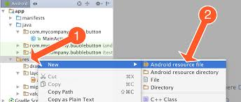 create folder on android creating a button animation on android