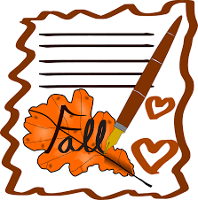 free vector graphic letter autumn fall pen filler free