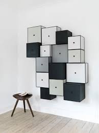Dark Gray Wall Paint Furniture Contemporary Modern Storage Wall Unit With Dark Grey