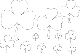 shamrock coloring pages getcoloringpages com