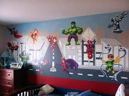marvel dc murals superhero wall decals baby nursery ideas image of marvel comics superhero wall decals