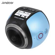 aa wifi andoer v1 360 degree panorama wifi 2448p 30fps 16m action camera
