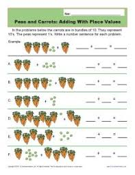 adding with place values place value worksheets for 1st grade