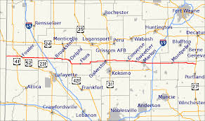 Map Of Downtown Indianapolis Indiana State Road 18 Wikipedia