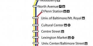 baltimore light rail map baltimore žemėlapis žemėlapiai baltimorėje maryland jav