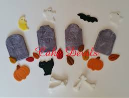 tombstone fondant cake decorations halloween cake toppers