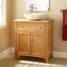 Shallow Depth Bathroom Vanity by Furniture Natural Walnut Wood Bathroom Vanity With White Stone