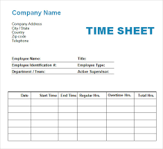 timesheet template in pdf