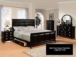 Bedroom Sets King Size Bed Furniture Excellent Poundex F9230ek Black Finish Eastern King