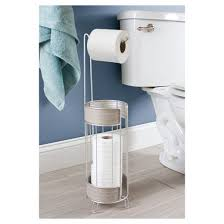 realwood free standing toilet paper holder satin gray wood finish