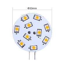1 5w bi pin g4 led light bulb 2 pcs warm white dics le