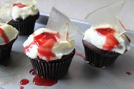 easy to make halloween cakes and cupcakes bloody broken glass cupcakes recipe story of a kitchen