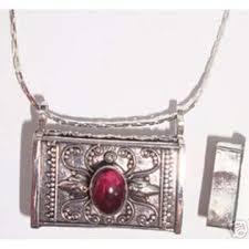 box lockets large silver garnet prayer box locket god wish pendant ee jewelry