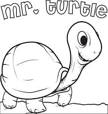 free printable turtle coloring kids