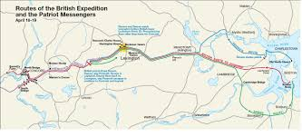 American Route Map by Paul Revere U0027s Ride Map American Revolution Pinterest