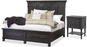 Magnussen Harrison Bedroom Furniture by Bedford Corners Black Panel Storage Bedroom Set From Magnussen