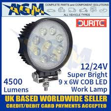 420 lumen led work light durite 0 420 86 super bright square 9 x 6w cob led work l 12 24v