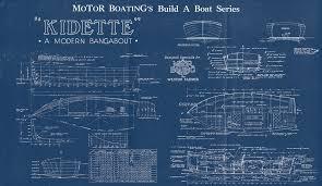 print of vintage kidette boat blueprint from motor boating u0027s build
