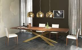 Modern Wood Dining Room Tables Dining Table With Irregular Solid Wood Edges By Cattelan Italia