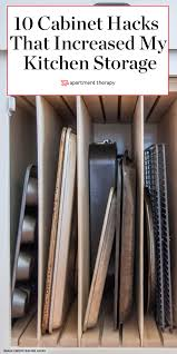 kitchen storage cabinets narrow here s how cabinet hacks dramatically increased my