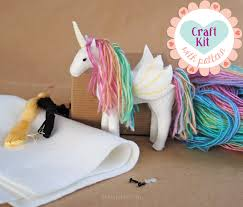 unicorn sewing kit make your own stuffed unicorn diy craft kit