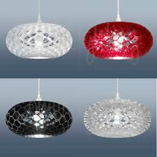 black and white ceiling light shade loren funky modern ceiling light shade in black red white or clear