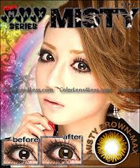 misty brown colored contacts pair g301br 29 99 cheap