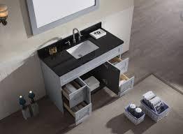 black countertop with black sink ariel hamlet 49 single sink vanity set with absolute black granite