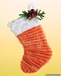 pipe cleaner stocking ornament martha stewart