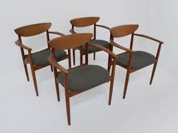 Set Of Teak Dining Table Mid Century Dining Chairs Set Of 8 In Teak By Kurt Ostervig For