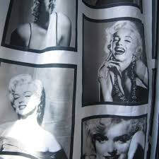 marilyn monroe waterproof fabric shower curtain