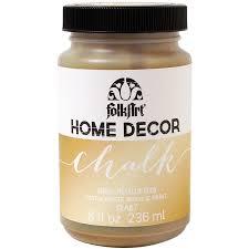 folkart home decor chalk paint metallic 8oz gold