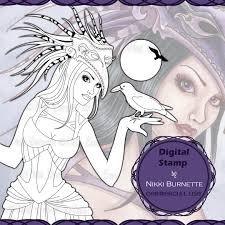 the fantasy art of nikki burnette digital stamps and printable
