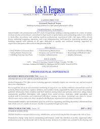licensed practical nurse resume format lpn resume samples resume for study