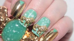 ancient jade nail art tutorial custom nail studs youtube