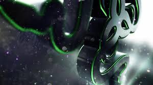 hd background razer 3d logo green symbol wallpaper wallpapersbyte