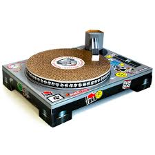 Cardboard Scratchers For Cats Dj Turntable Cardboard Cat Scratcher Spinning Dj Turntable For