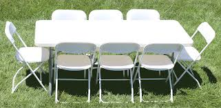 6 foot plastic table table rentals for parties weddings and events in riverside and